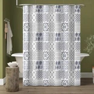 farmhouse rustic shower curtains