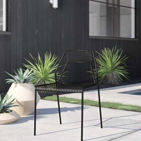modern contemporary metal mesh patio chair