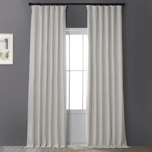 clem solid blackout rod pocket single curtain panel