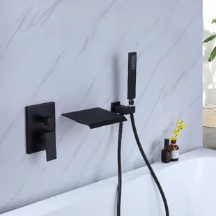 single handle wall mounted tub spout with handshower