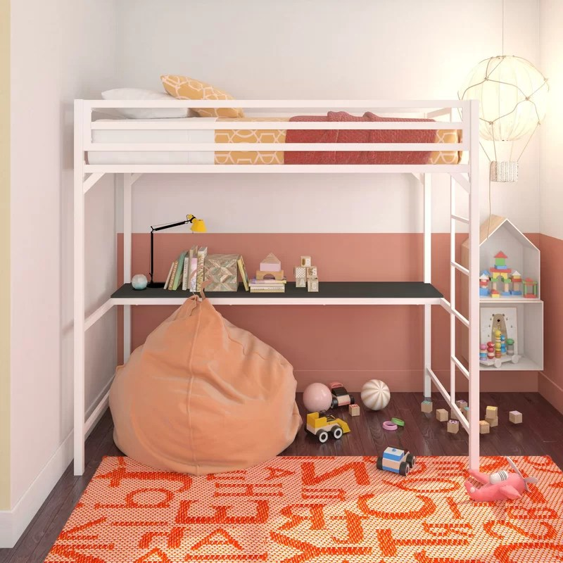 Loft Twin Bed With Desk Underneath