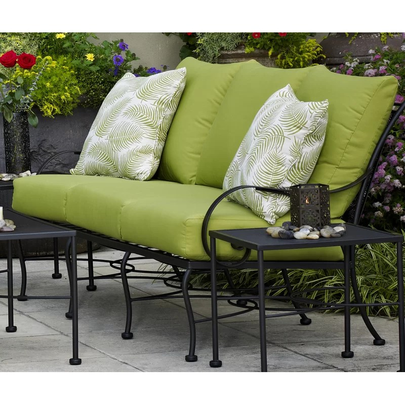 uribe 75 wide outdoor patio sofa with cushions