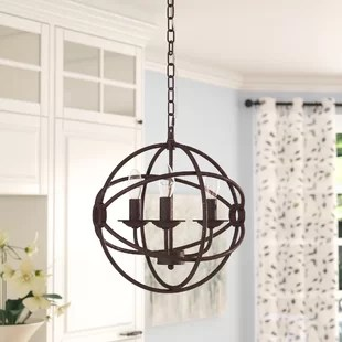 Chandeliers You ll Love   Wayfair Wheatland 3 Light Chandelier