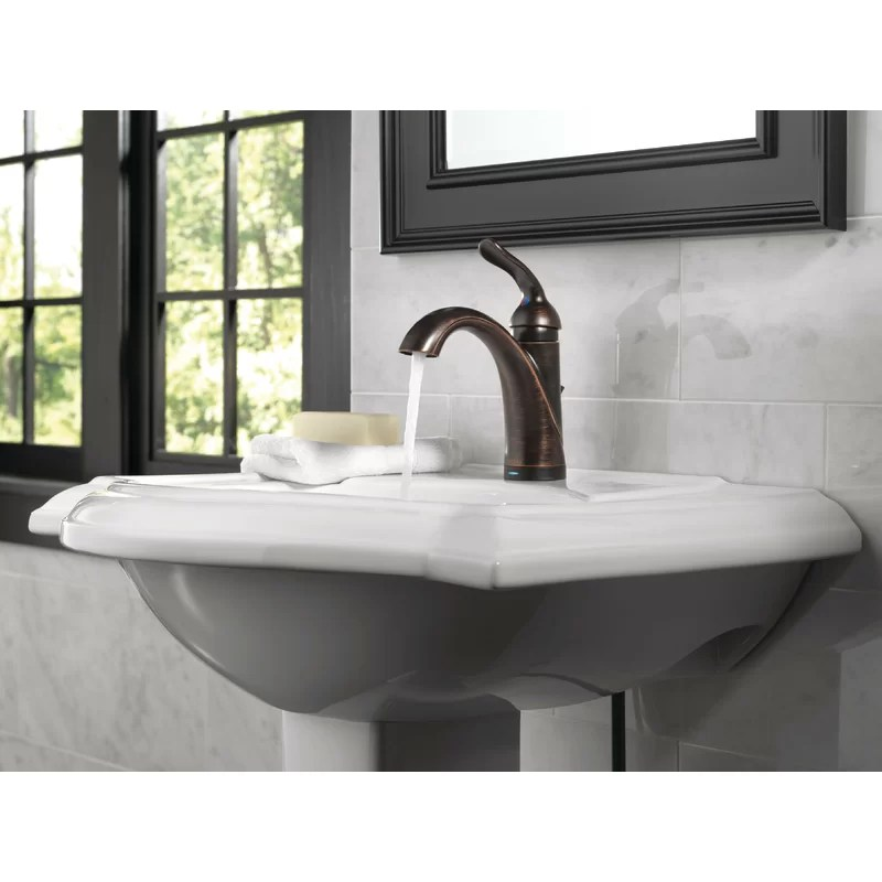 lahara single hole bathroom faucet with drain assembly and diamond seal technology