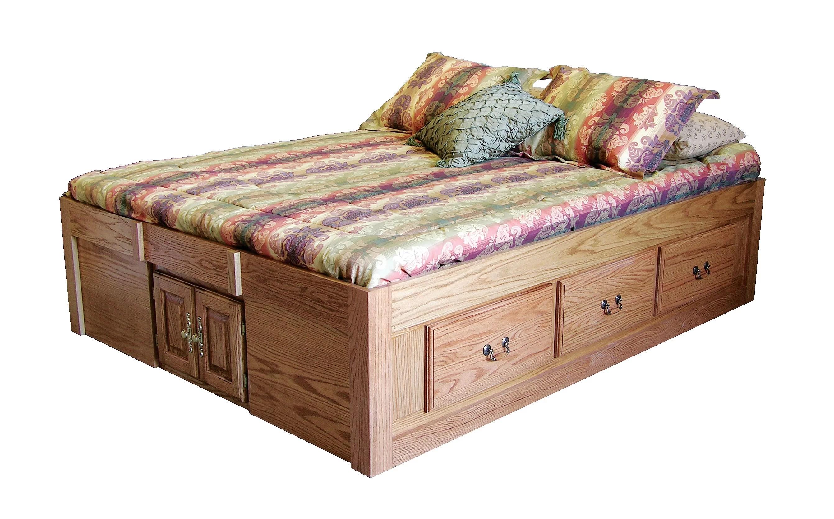 Loon Peak Kuhn Queen Solid Wood Storage Platform Bed Reviews