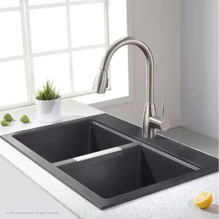 quarza 33 l x 22 w dual mount kitchen sink