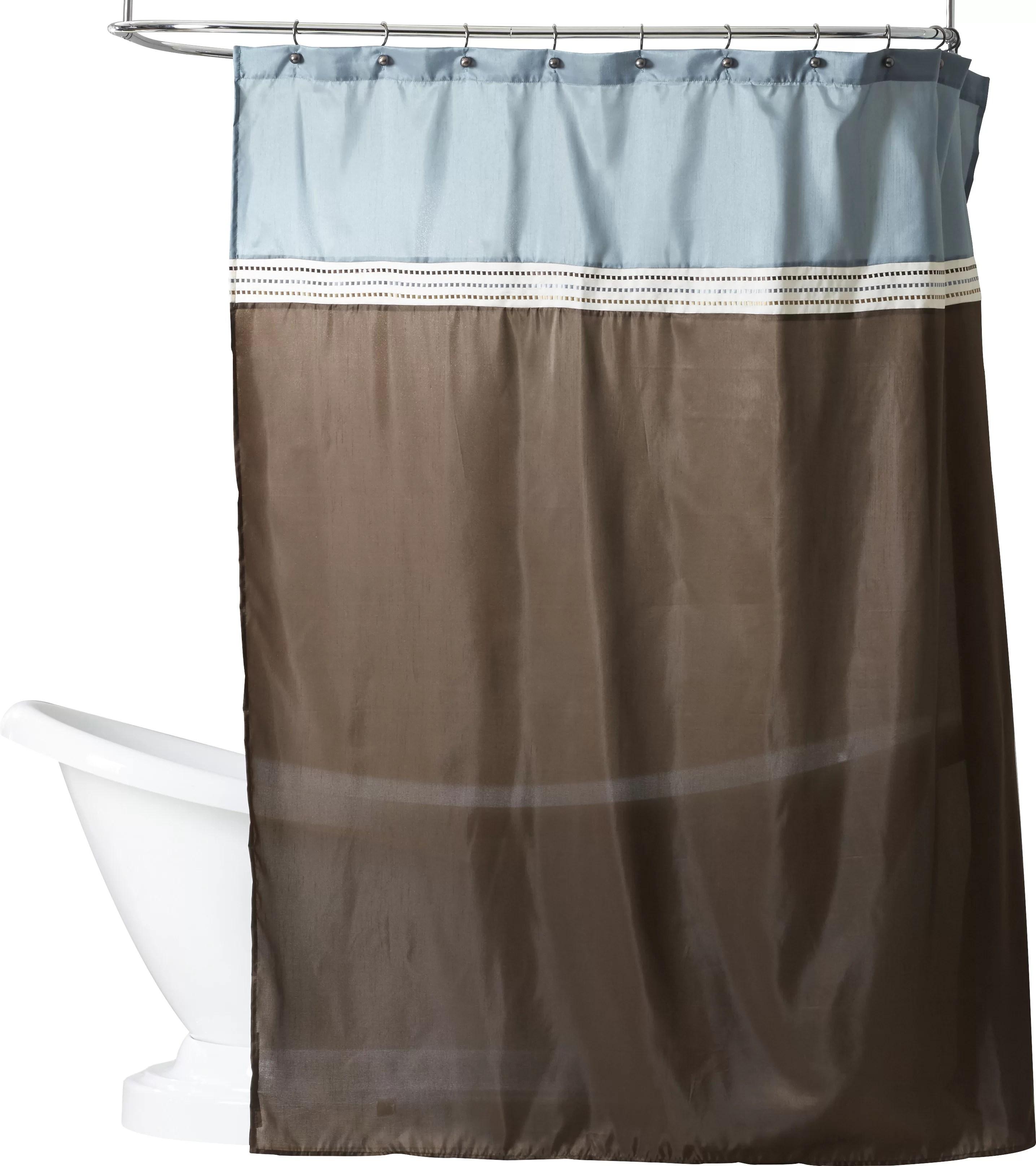 bathroom shower curtain with 12hooks