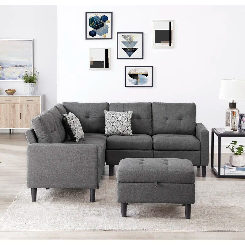 strattanville 80 reversible modular sectional with ottoman