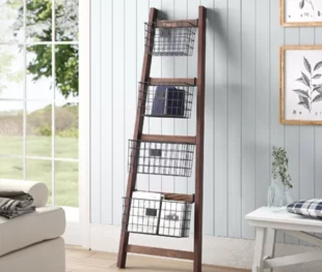 Vertical Wooden  Ft Blanket Ladder