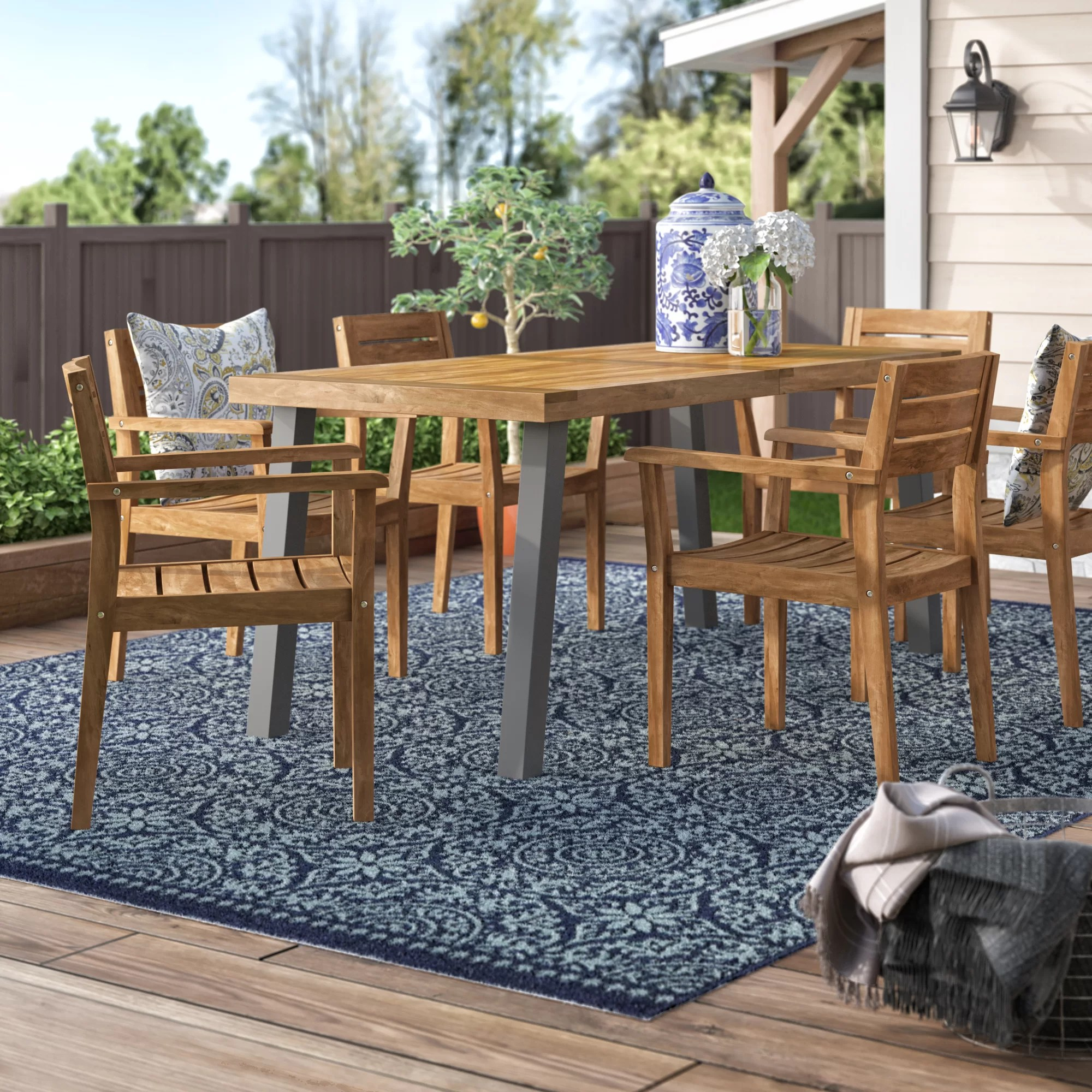 knupp oval 6 person 63 long dining set