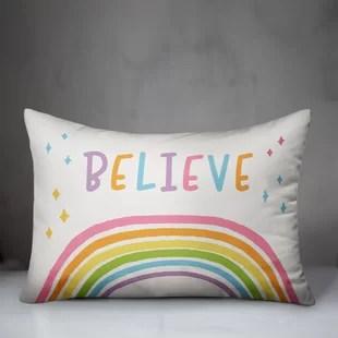 jerilyn believe rainbow lumbar pillow