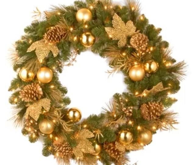 Elegance Lighted Wreath