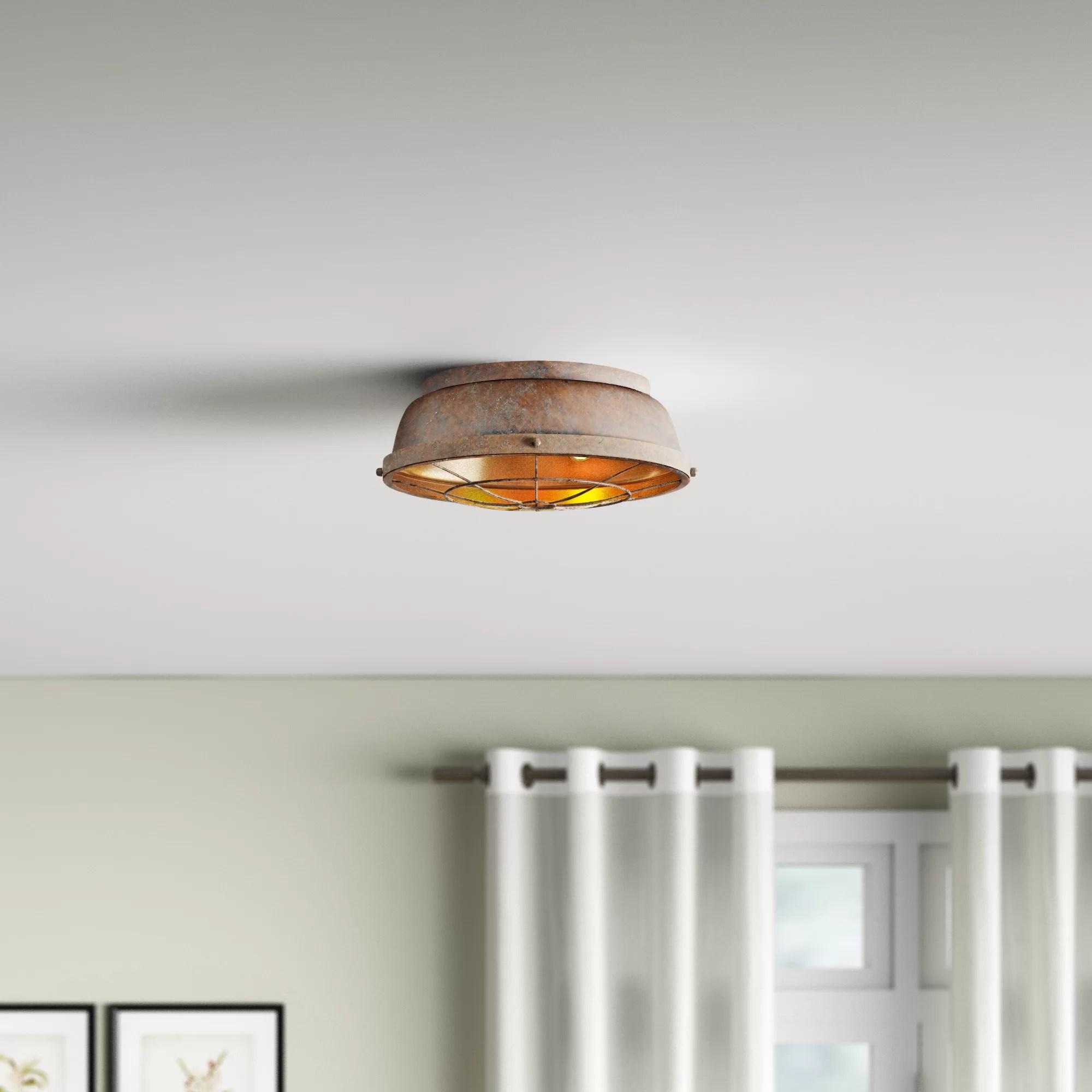 copper flush mount lighting free