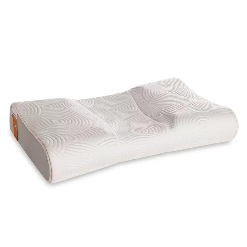 tempur pedic bedding advanced neck relief firm foam queen bed pillow