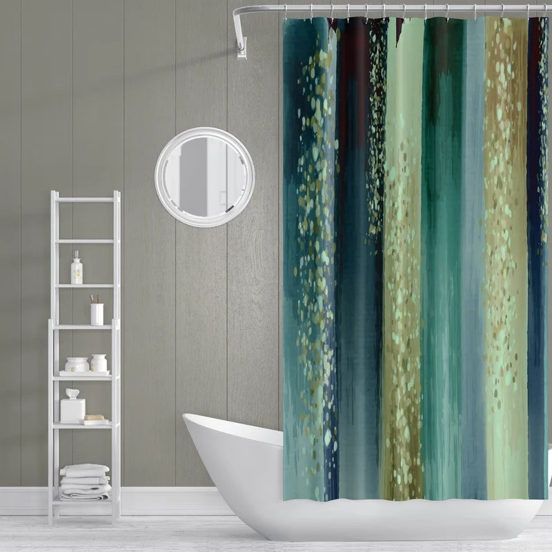 critchlow no pattern and not solid color single shower curtain
