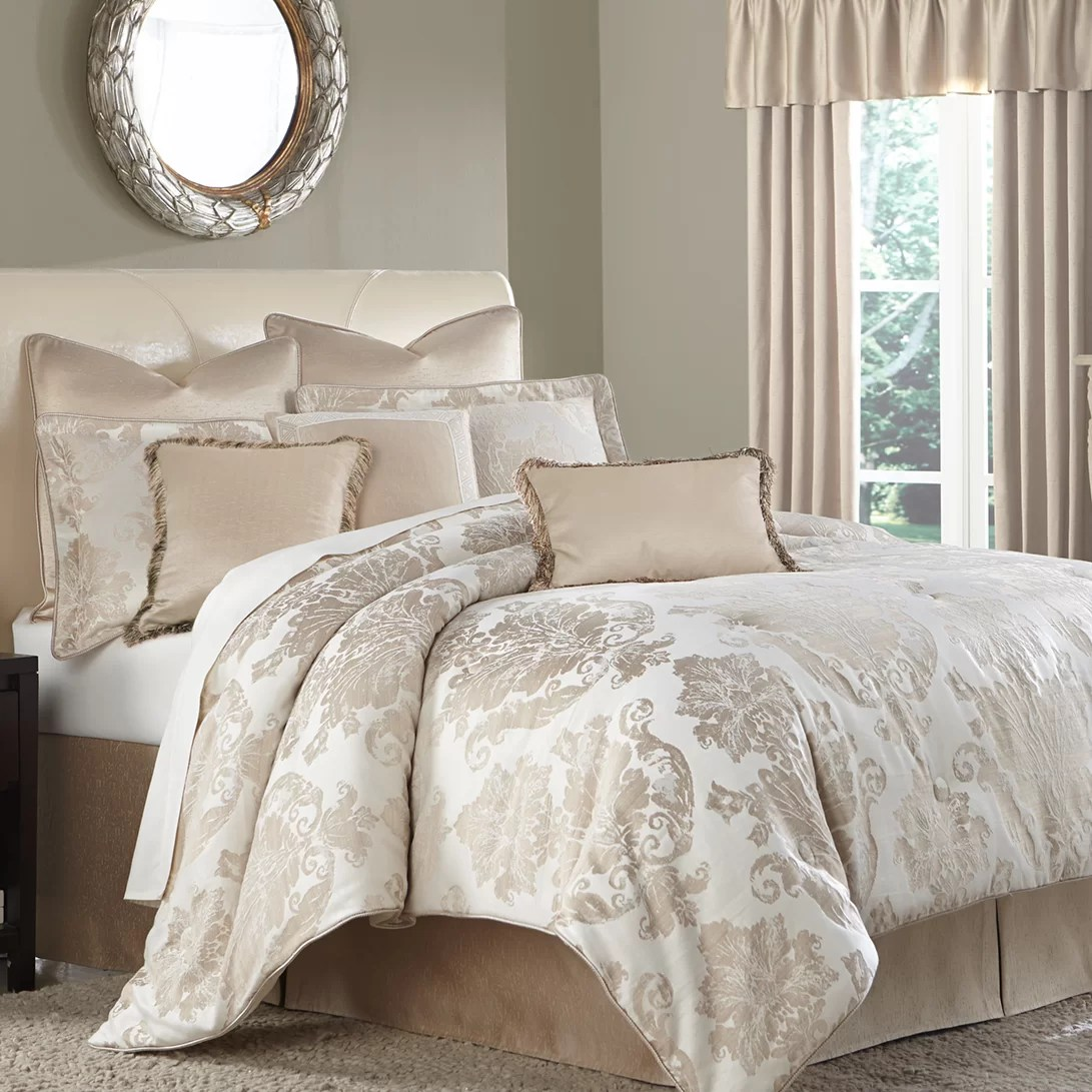 distinctive bedding designs marbella cream damask 10 piece comforter set