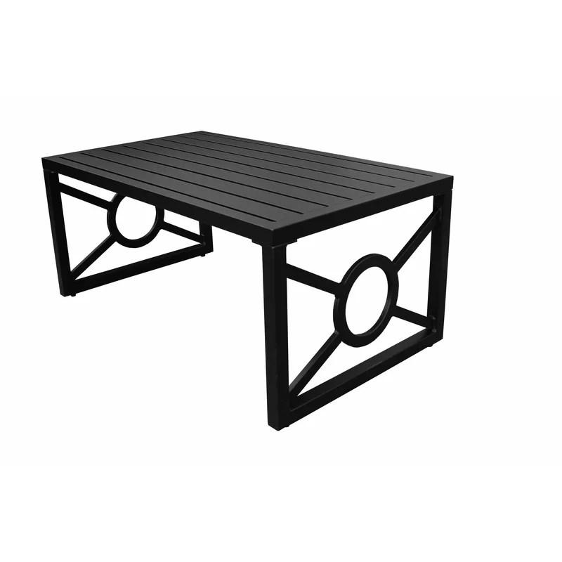 madison aluminum coffee table