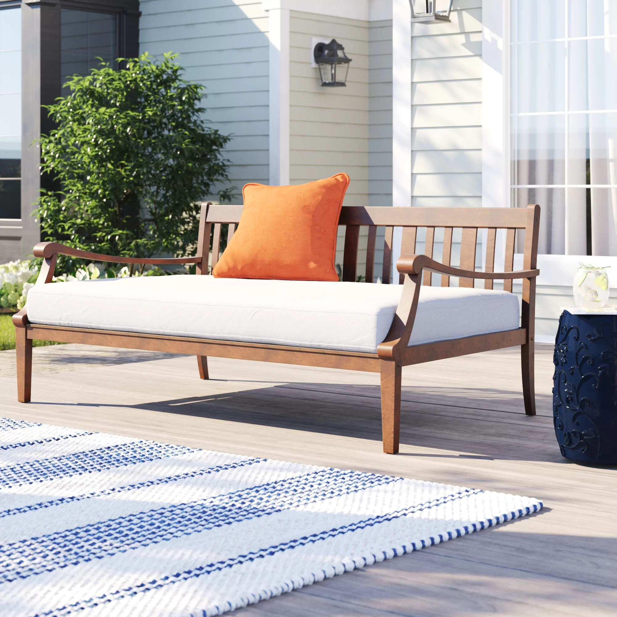 dowling 69 5 wide outdoor patio daybed with cushions