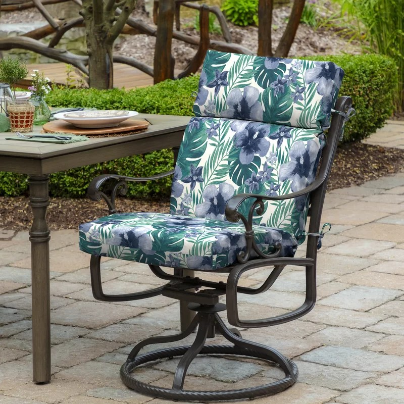 fonseca tropical outdoor dining chair cushion