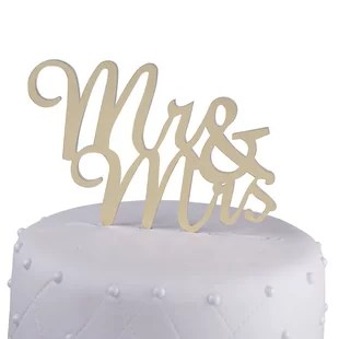 Wedding Cake Toppers You ll Love   Wayfair Save