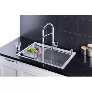 33 l x 22 w dual mount kitchen sink with faucet and soap dispenser