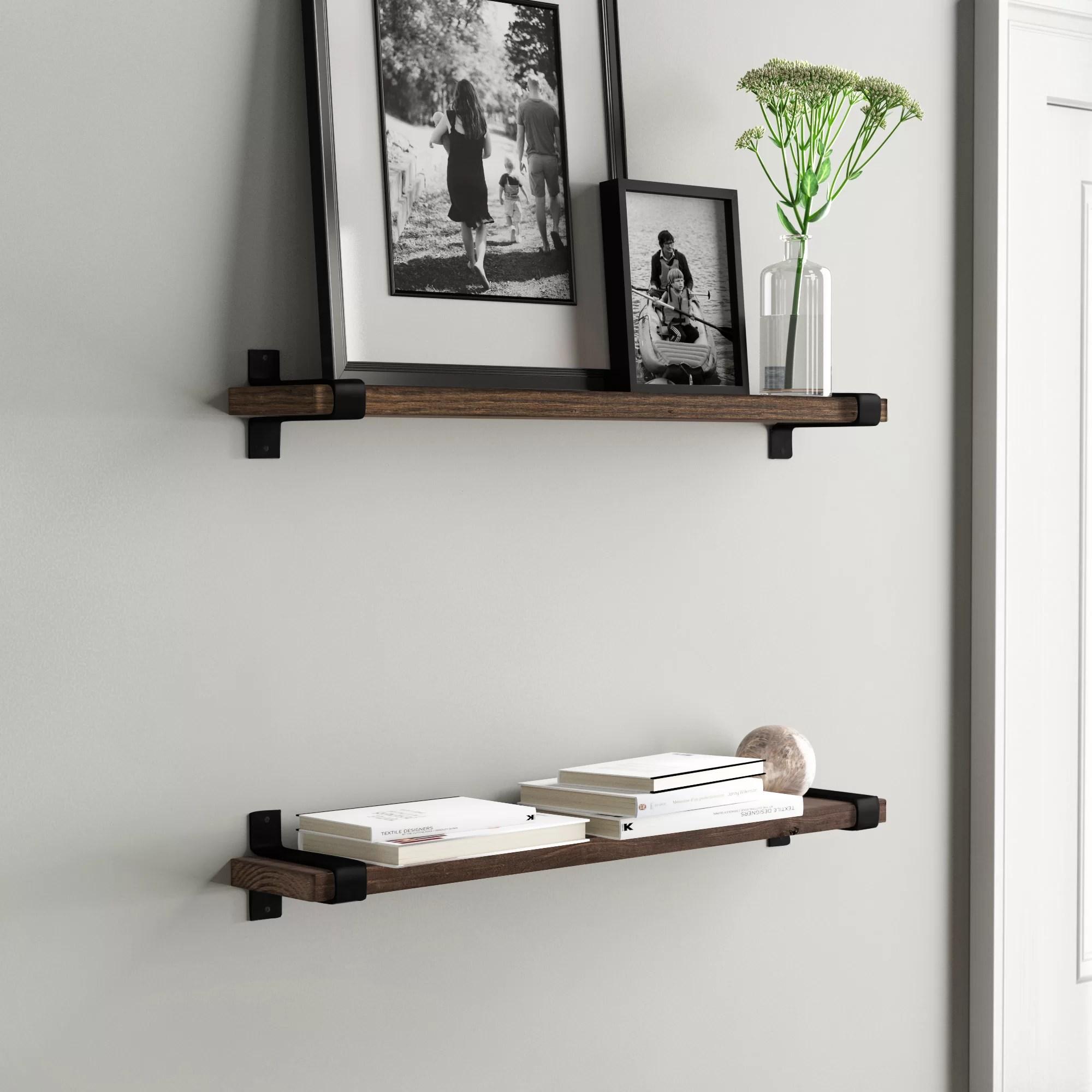 floating wall display shelves free