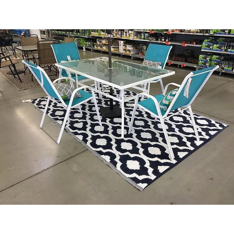 grenora geometric 6 x 9 black white indoor outdoor area rug