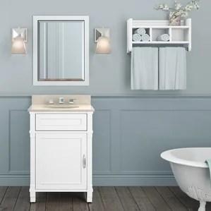 open shelf bathroom vanity | wayfair