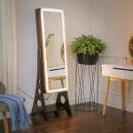 Latitude Run Glynell Free Standing Jewelry Armoire With Mirror Reviews Wayfair