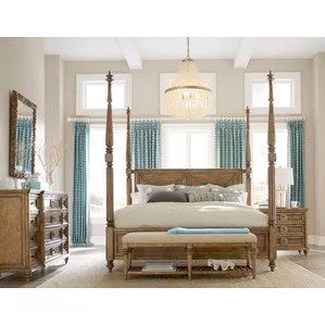 four poster bedroom sets you'll love | wayfair