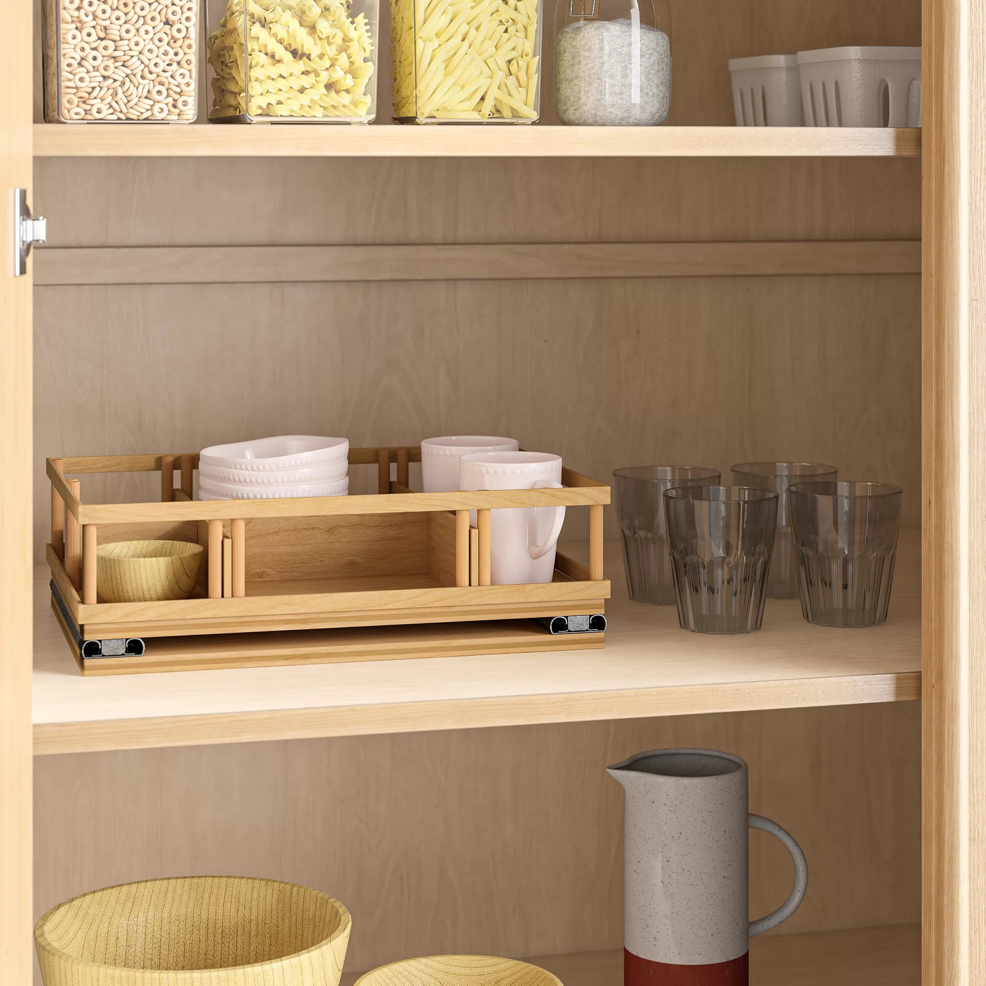 baron upper cabinet spice rack caddy large pull out drawer