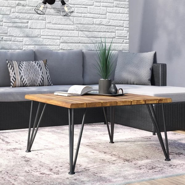 32 inch square coffee table