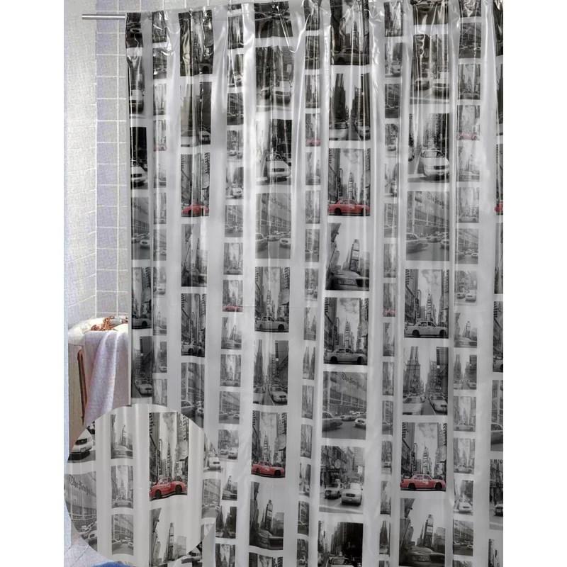 granado vinyl new york single shower curtain