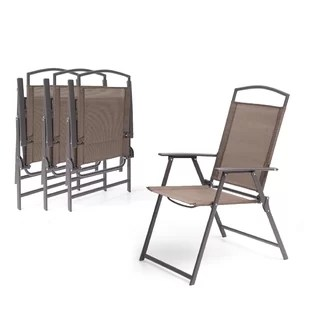 spooner folding patio dining chair set of 4