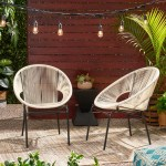 Wrought Studio Indira Outdoor Modern Patio Chair Reviews Wayfair