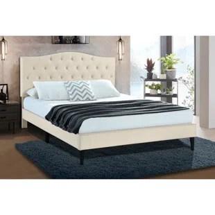 delahunt tufted upholstered low profile platform bed