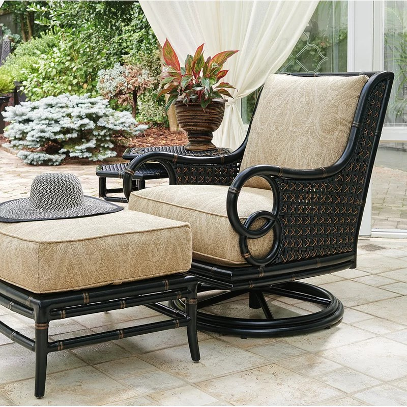 marimba swivel rocker lounge patio chair with cushion