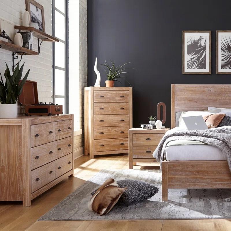 montauk solid wood standard 4 piece configurable bedroom set