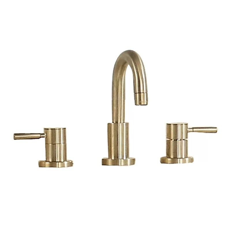 positano widespread bathroom faucet with drain assembly