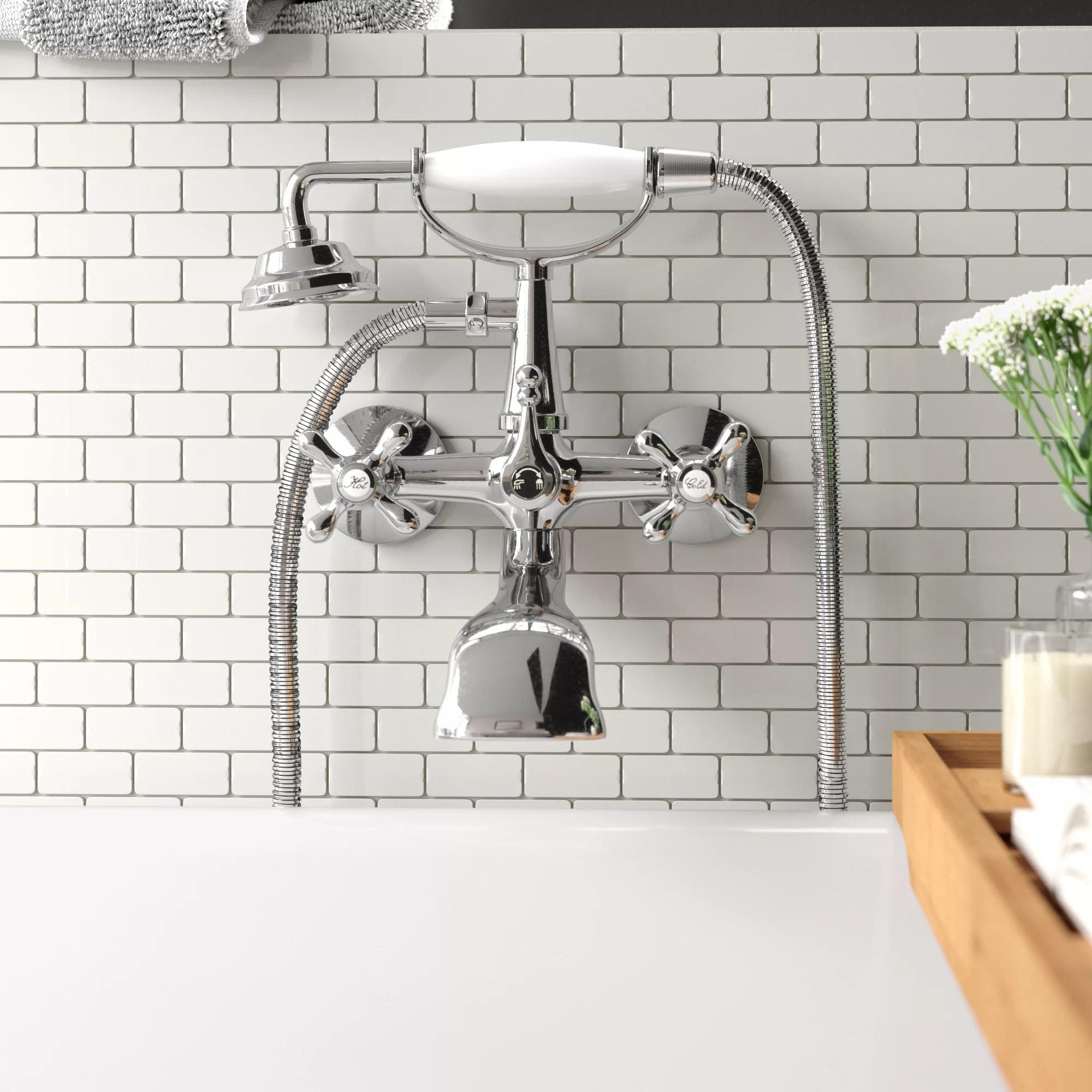 isai wall mounted clawfoot tub faucet