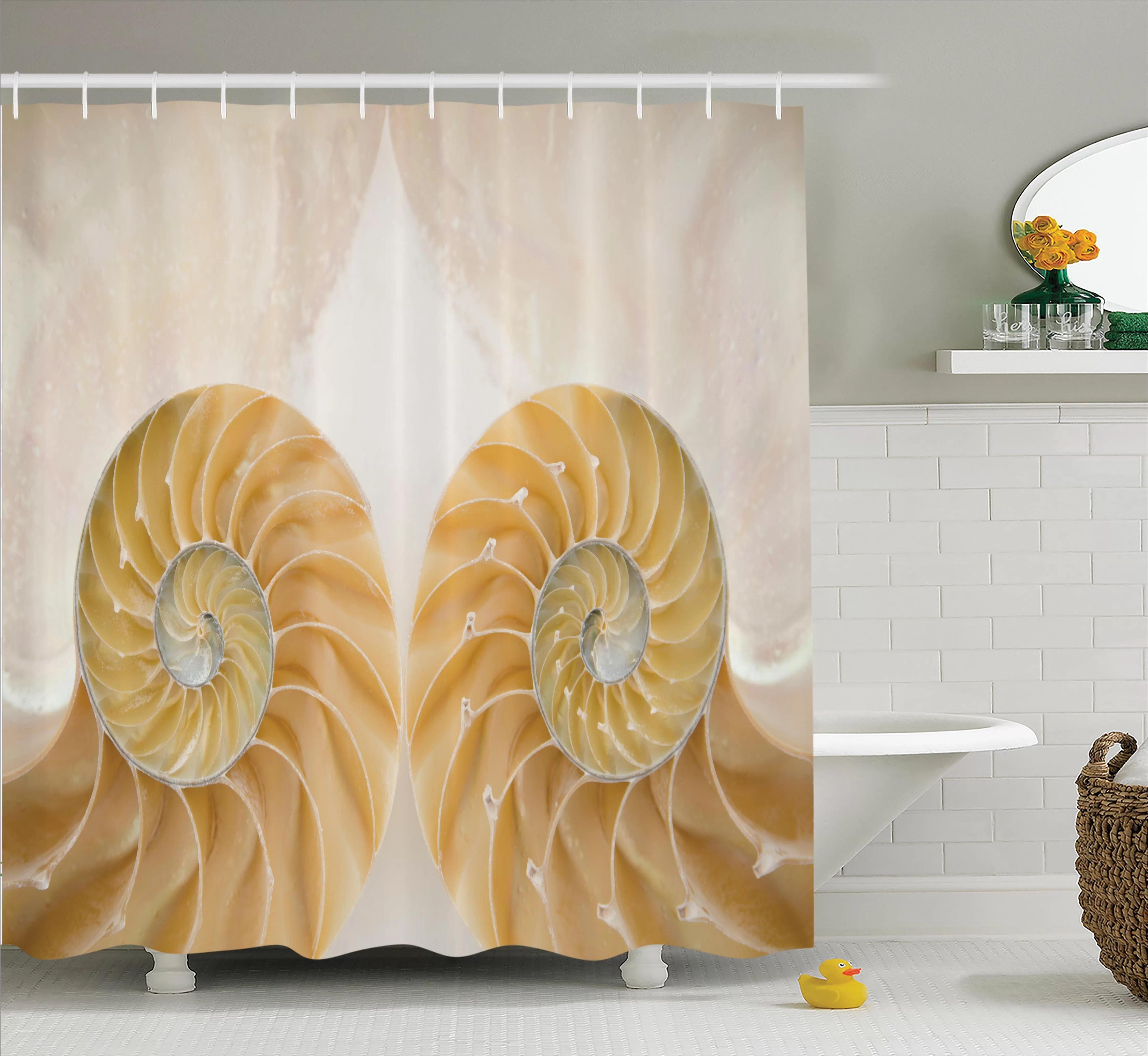 east urban home garrettsville inside out seashell single shower curtain wayfair