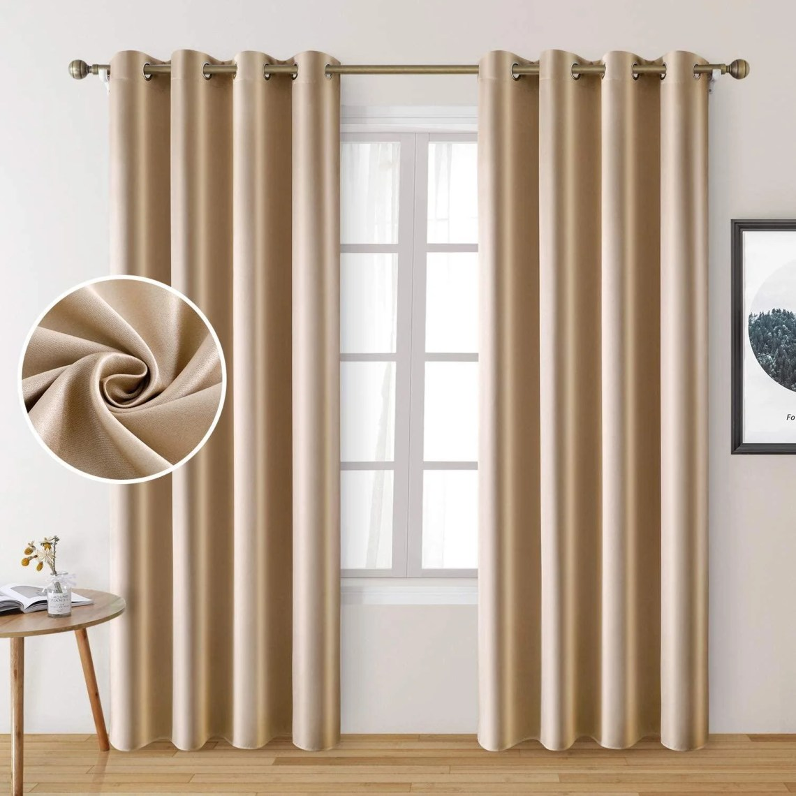 Eider Ivory 2 Panels Faux Silk Curtains For Nursery Greyish White Blackout Curtains For Girls Room 52 X 84 Inch Room Darkening Curtains For Kids Room Thermal Insulated Window Curtains For