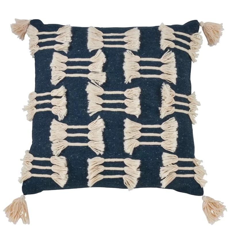 zaina boho tassel design pillow cover only