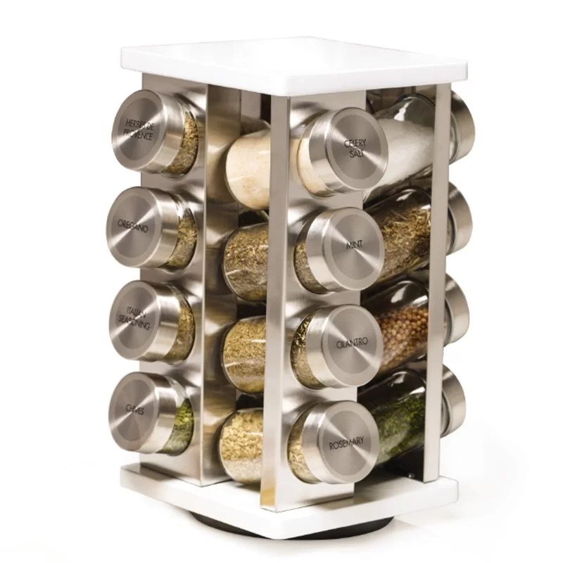 brighton 16 jar spice jar rack set
