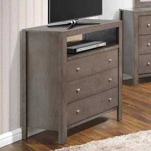 grey media chest dressers you'll love | wayfair