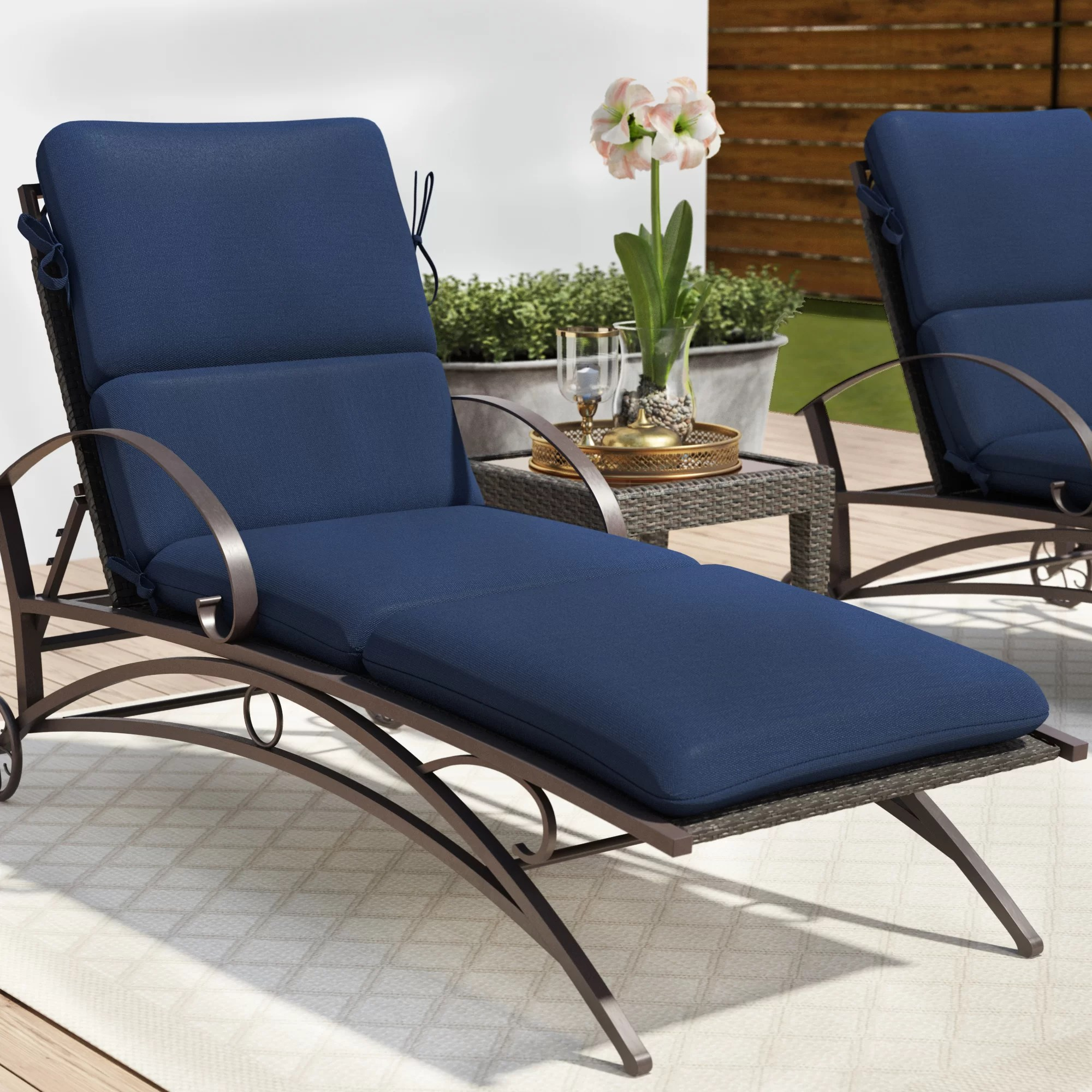 Winston Porter Outdoor Sunbrella Seat Back Cushion Reviews Wayfair