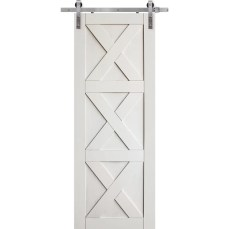 Triple X Solid Manufactured Wood Panelled Interior Barn Door