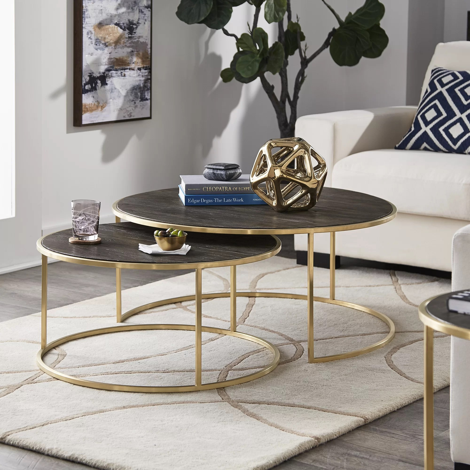 dupont 2 piece coffee table set