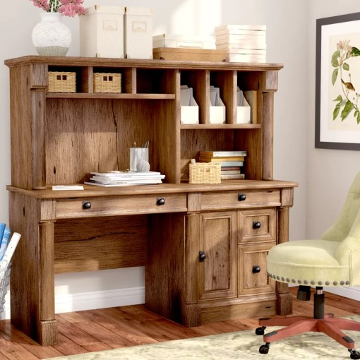 Three Posts Orviston Computer Desk with Hutch   Reviews   Wayfair Orviston Computer Desk with Hutch
