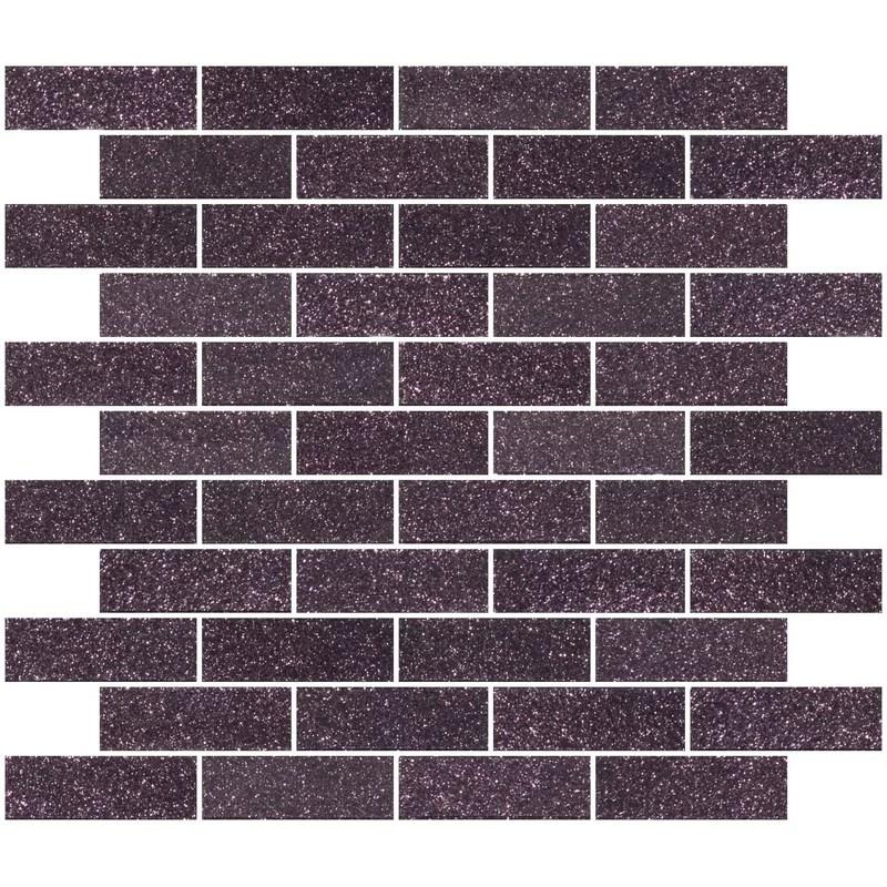 kilo 1 x 3 glass subway tile in purple plum